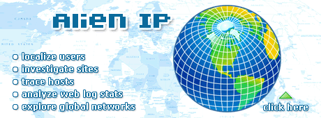 Our pick is Alien IP. Trace and report hackers, investigate web sites with visual IP location